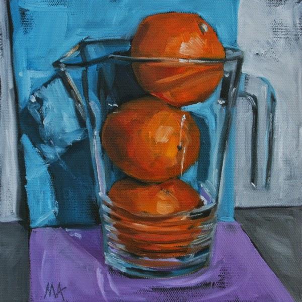 Orange Juice - oil painting by Anikó Makay