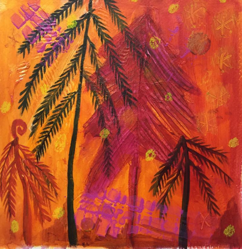 Feels like Christmas: Aniko Makay original acrylic painting