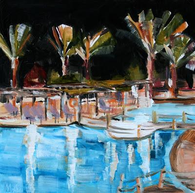 Jaz Belvedere - oil painting by Anikó Makay