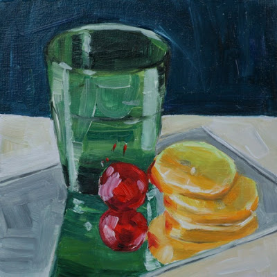 Lemonade - oil painting by Anikó Makay