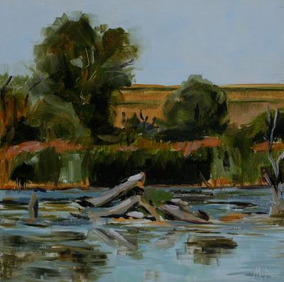 Small Balaton - oil painting by Anikó Makay