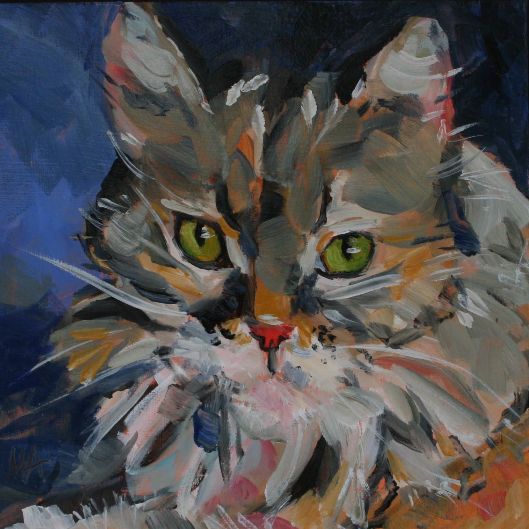 Catlook oil painting by Anikó Makay