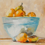 Fruit bowl - oil painting by Anikó Makay