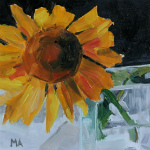 Sunflower-oil painting by Anikó Makay
