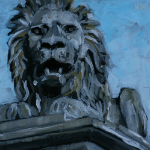 Watch Lion-oil painting by Aniko Makay