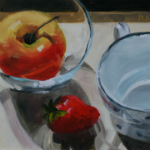 Appleberry - oil painting by Anikó Makay