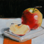Apple day - oil painting by Anikó Makay