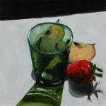 Hide and Seek - oil painting by Anikó Makay