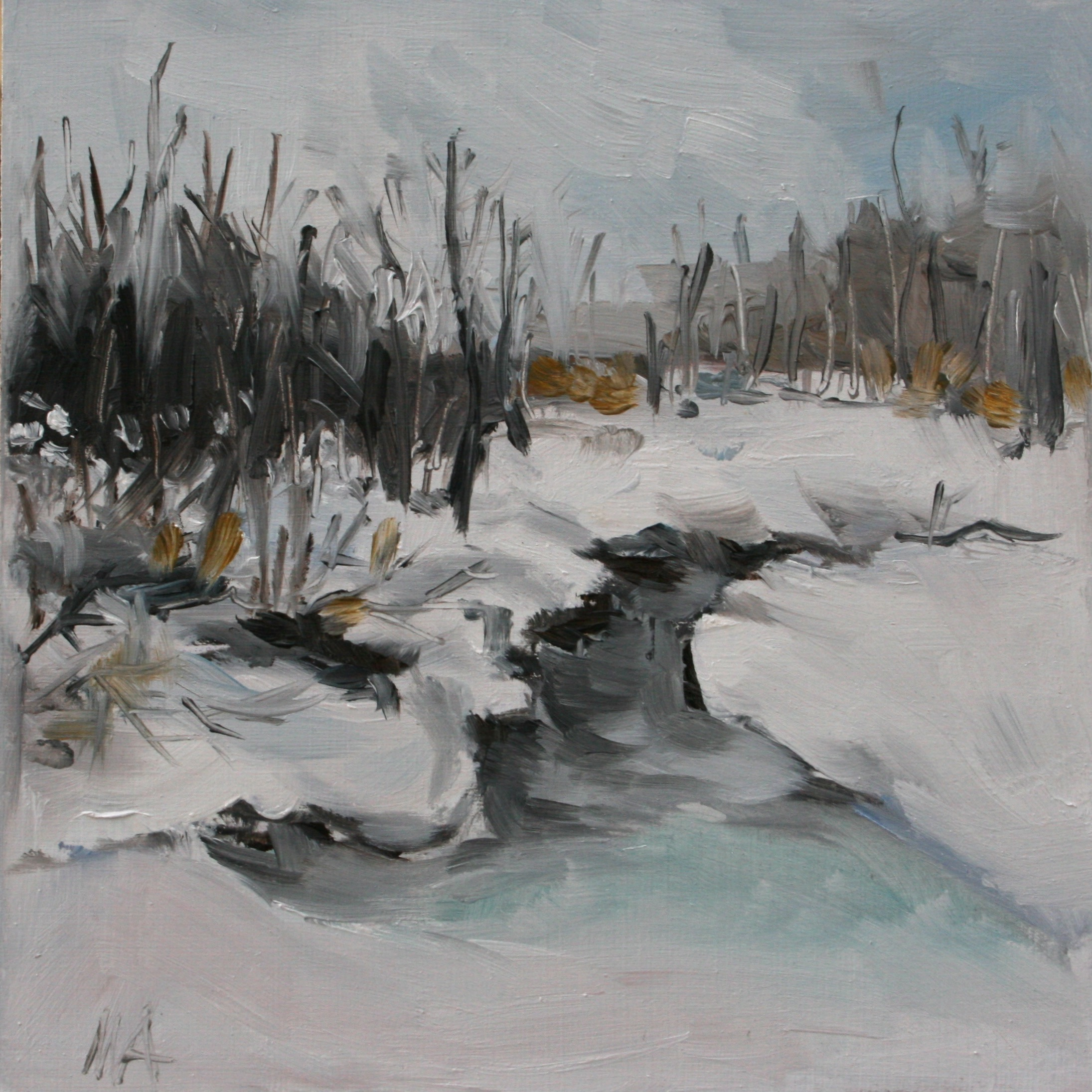 Winter 2- oil painting by Anikó Makay