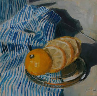 Lemonfresh - oil painting by Anikó Makay