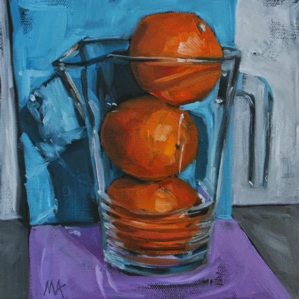 Orange Juice - oil painting by Anikó Makay