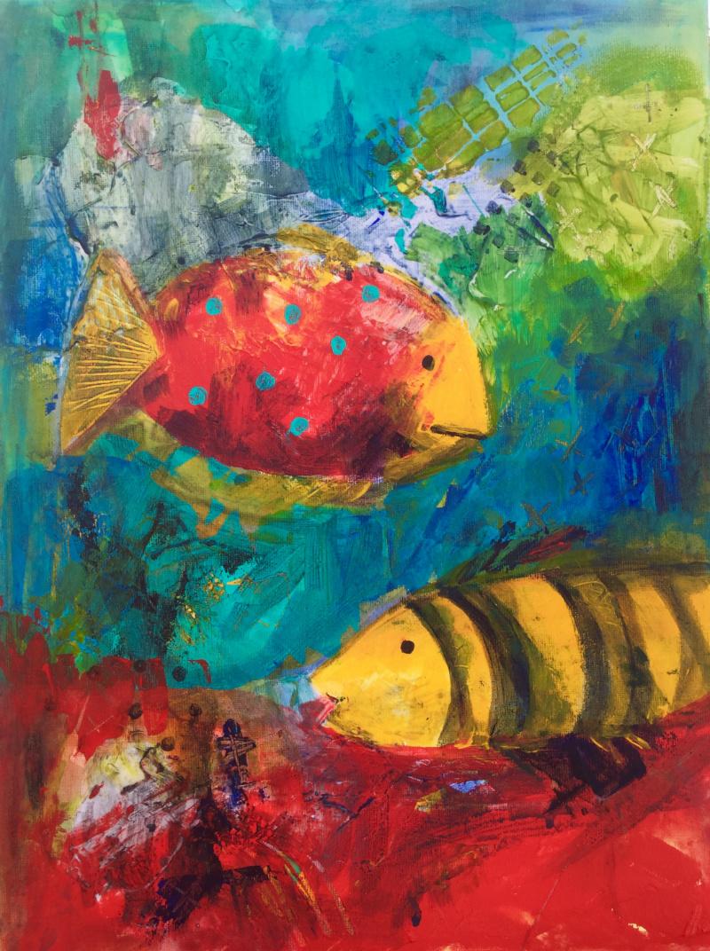 I like your style: Aniko Makay original acrylic painting