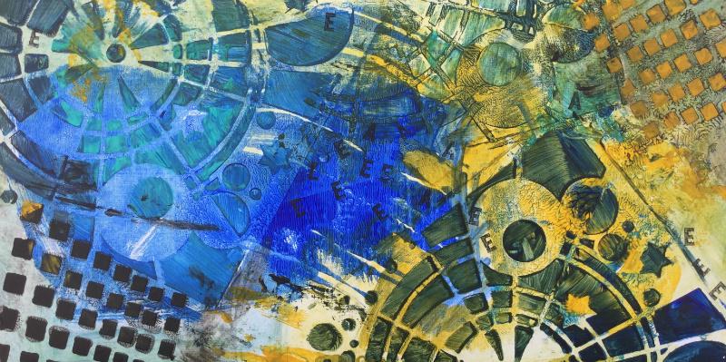Time machine: Aniko Makay original acrylic painting